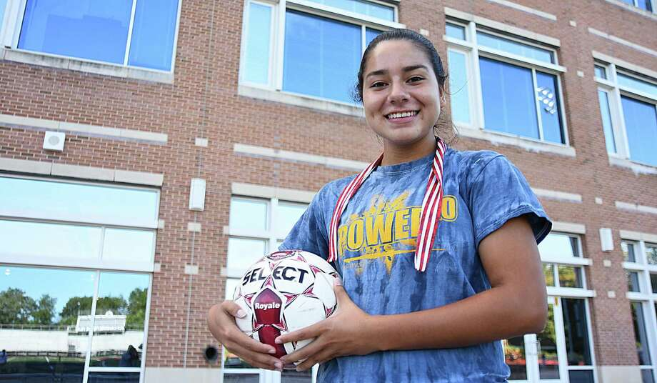 Tatiana Arias, a junior at Brien McMahon High School, is a Senator once again after transferring over the summer from Norwalk High. Arias started her varsity sports career at McMahon as a freshman before switching to Norwalk as a sophomore. Photo: John Nash / Hearst Connecticut Media / Norwalk Hour
