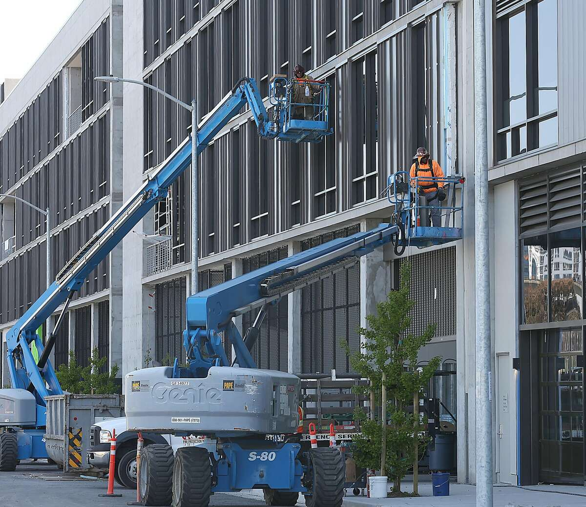 Construction seen outside the new PDR/industrial building by SF Made at 100 Hooper St., near Mission Bay on Wednesday, April 25, 2018, in San Francisco, Calif.