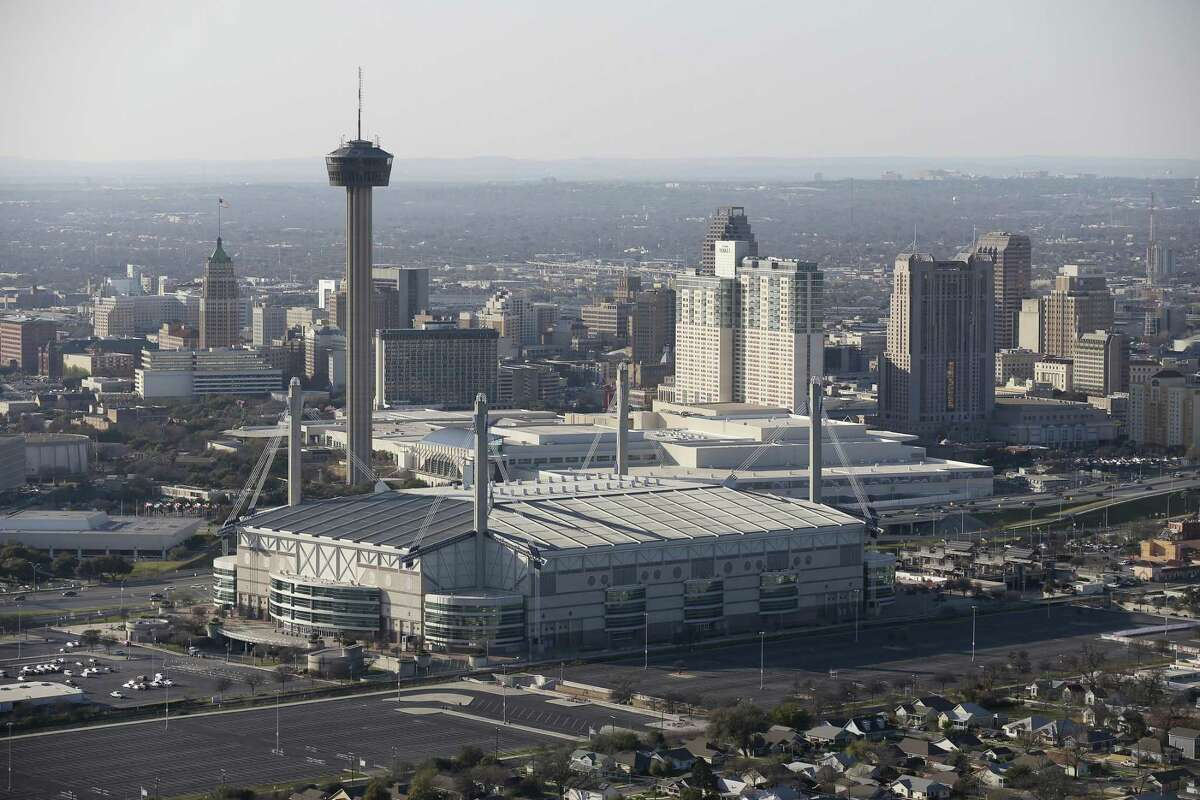 The San Antonio skyline is seen from the southeast looking northwest in this frame take on, Thursday, Feb. 18, 2016.