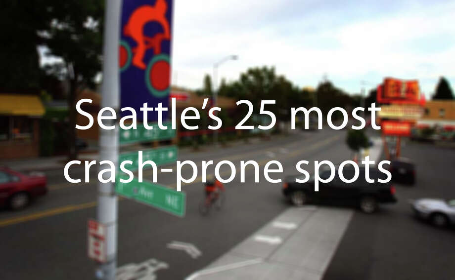 Where are Seattle's most crash-prone spots? We dug into the city's trove of 911 responses to find where police have been dispatched for traffic crashes the most. Photo: JOSHUA TRUJILLO