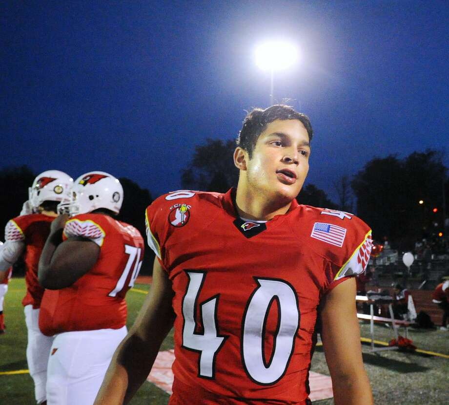 Greenwich's Tysen Comizio rushed for 1,379 yards with 20 touchdowns last season. Photo: Bob Luckey Jr. / Hearst Connecticut Media / Greenwich Time