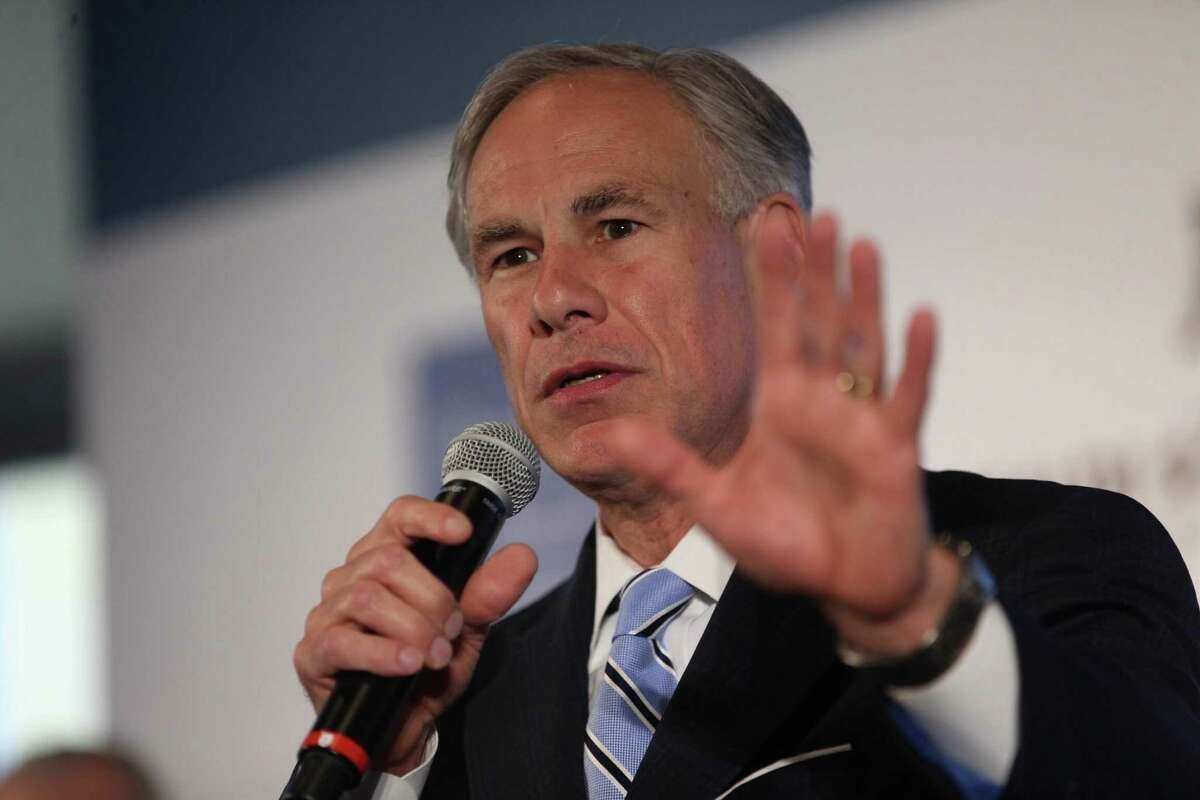 Texas Governor Greg Abbott, shown in Houston on Monday, April 23, 2018, has called for a special election to fill the 27th Congressional District seat vacated by Republican Rep. Blake Farenthold.
