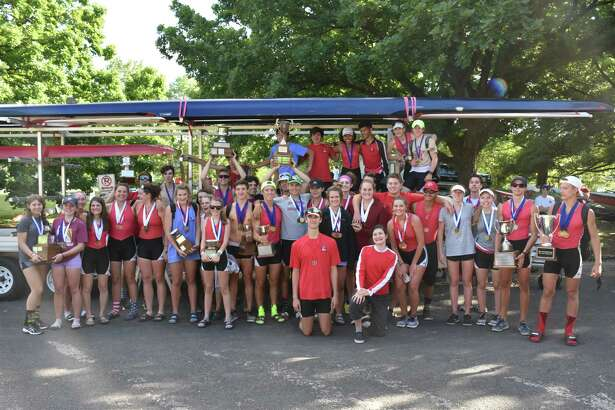 Parati rowers pose for a photo following the Texas state championships in Austin last weekend.