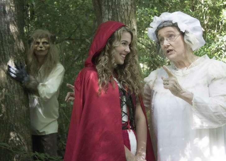 """Richard Grosclose, Katie Cross andTeresa McLemoreportray fairy tale characters in the Purple Box Theater's production of """"Into the Woods."""""""