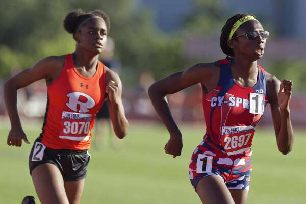 Runner Wonders Oguejifor will compete in four events, including the high jump, for Cypress Springs at the regional meet this weekend at Turner Stadium.