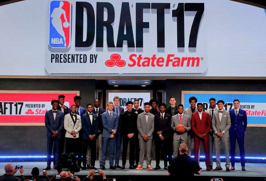 FILE - In this June 22, 2017, file photo, top draft prospects gather for a group photo before the NBA basketball draft in New York.  Photo: Julie Jacobson / Copyright 2017 The Associated Press. All rights reserved.