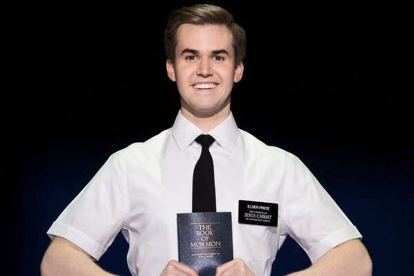 "Kevin Clay plays Elder Price, a young man wh dreams of doing his mission service in Florida but ends up in Uganda, in the touring edition of ""The Book of Mormon."""