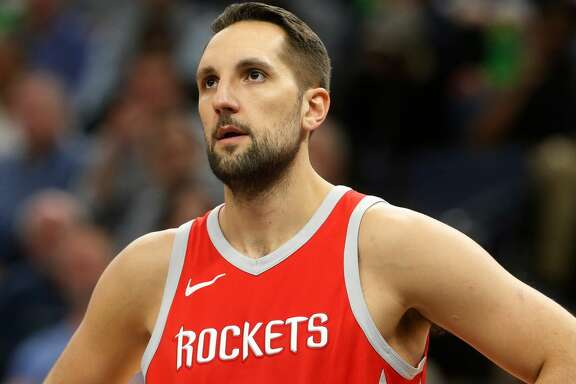 Houston Rockets' Ryan Anderson plays against the Minnesota Timberwolves during the second half of Game 4 in an NBA basketball first-round playoff series Monday, April 23, 2018, in Minneapolis. (AP Photo/Jim Mone)