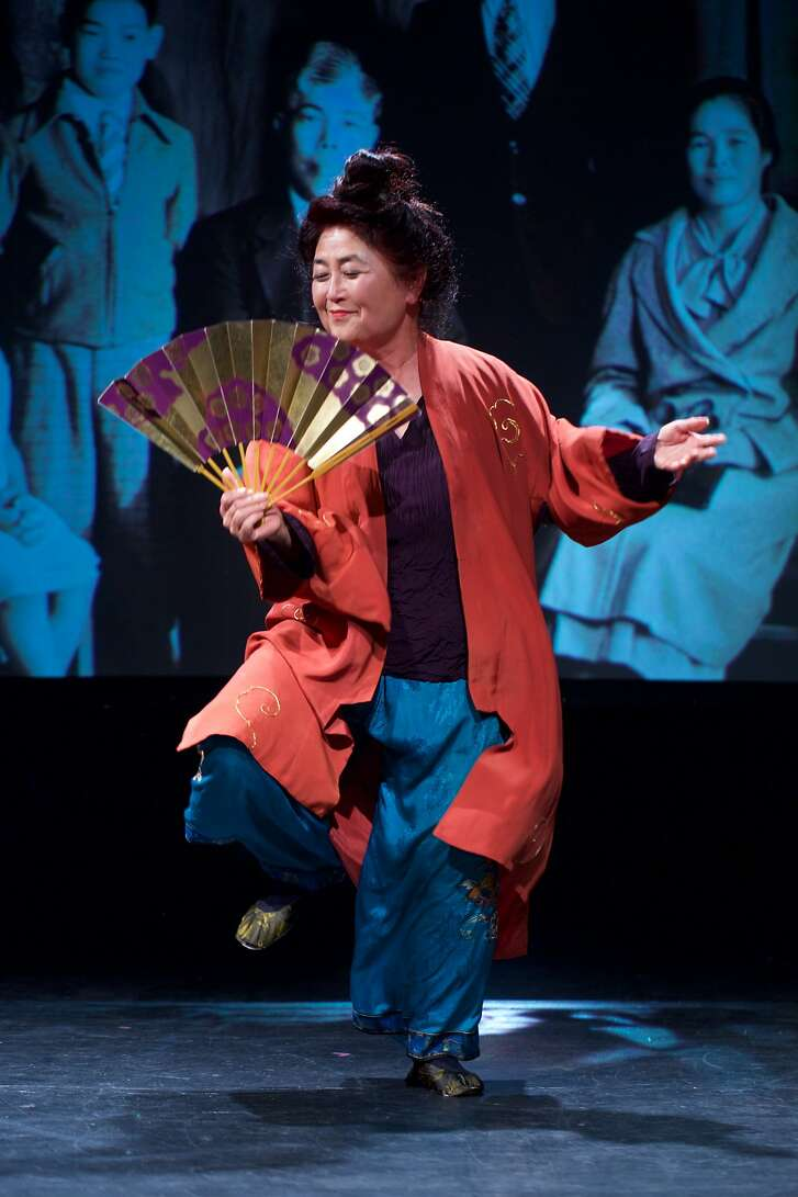 "Bay Area storyteller and activist Brenda Wong Aoki performs her one-woman show, ""Aunt Lily's Flower Book: One Hundred Years of Legalized Racism,"" which closes CAAMFest 36 on May 24, 2018,�at the Herbst Theatre."