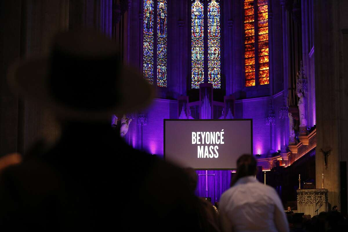 Congregants gathered at Grace Cathedral to celebrate the Beyonce Mass on Wednesday, April 25, 2017 in San Francisco, Calif.