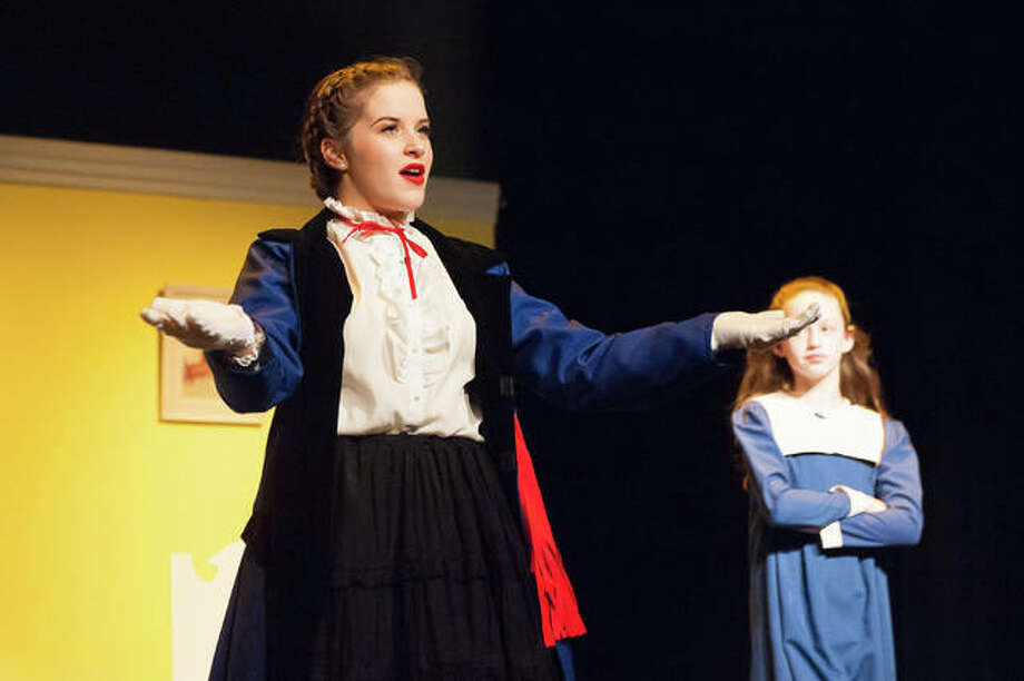 """Piper Martin, eighth grade, is Mary Poppins, the beloved nanny to the Banks family. """"Mary Poppins Jr."""" takes the stage Friday through Sunday at Roxana High School's Birdine M. Groshong Auditorium. Photo:       Photo Credit Chuck Sheets