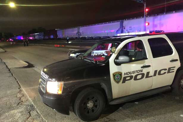A bicyclist was hospitalized after being struck by a vehicle in southeast Houston on Wednesday night.