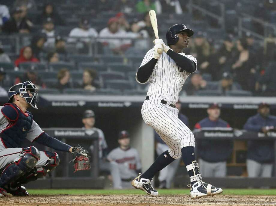 NEW YORK, NY - APRIL 25:  Didi Gregorius #18 of the New York Yankees hits a solo home run in the third inning against the Minnesota Twins at Yankee Stadium on April 25, 2018 in the Bronx borough of New York City.  (Photo by Elsa/Getty Images) Photo: Elsa / 2018 Getty Images