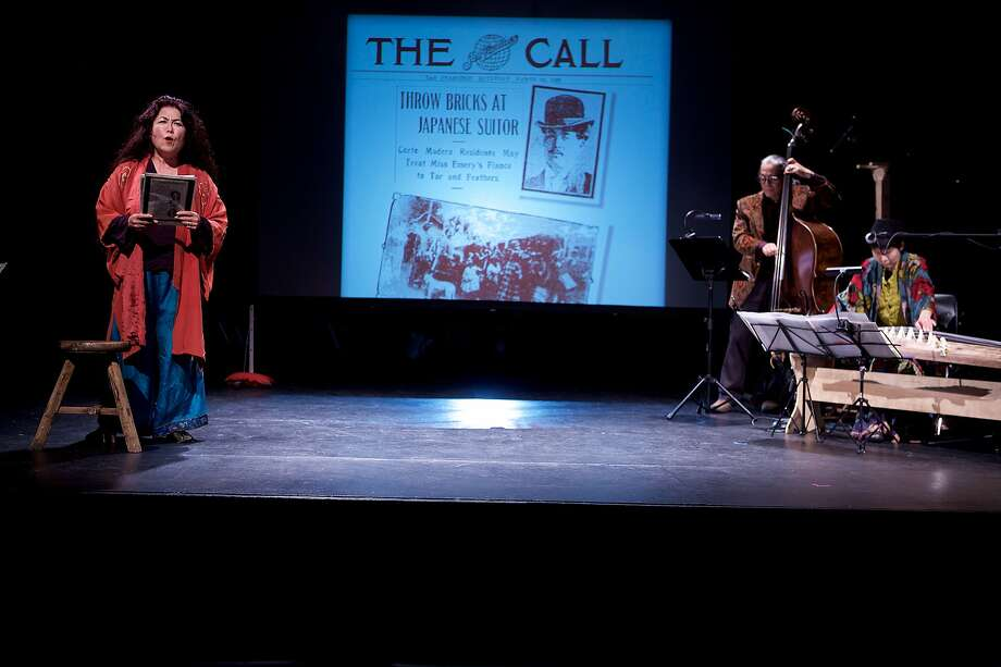 "Bay Area storyteller and activist Brenda Wong Aoki will close CAAMFest 36 with a live performance of ""Aunt Lily's Flower Book: One Hundred Years of Legalized Racism"" on May 24, 2018,�at the Herbst Theatre in San Francisco. Photo: CAAMFest"