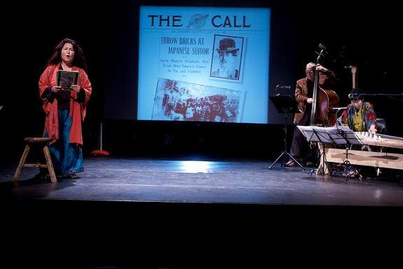 "Bay Area storyteller and activist Brenda Wong Aoki will close CAAMFest 36 with a live performance of ""Aunt Lily's Flower Book: One Hundred Years of Legalized Racism"" on May 24, 2018,�at the Herbst Theatre in San Francisco."