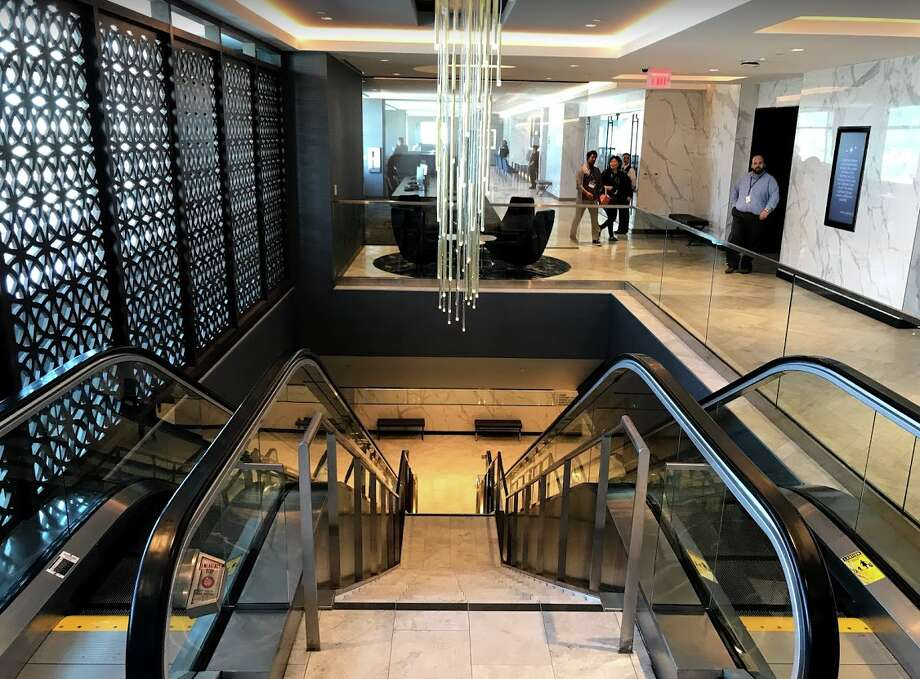 Looking down the escalators from the expansive, bright second level. Photo: Chris McGinnis