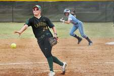 Kayla Oliveira got the victory on the mound and scored the winning run in LCC's 4-3 walk-off win Wednesday over Coastal Bend College. Game 2 was tied at 5 when it was suspended due to rain. It will restart Thursday at 2 p.m.