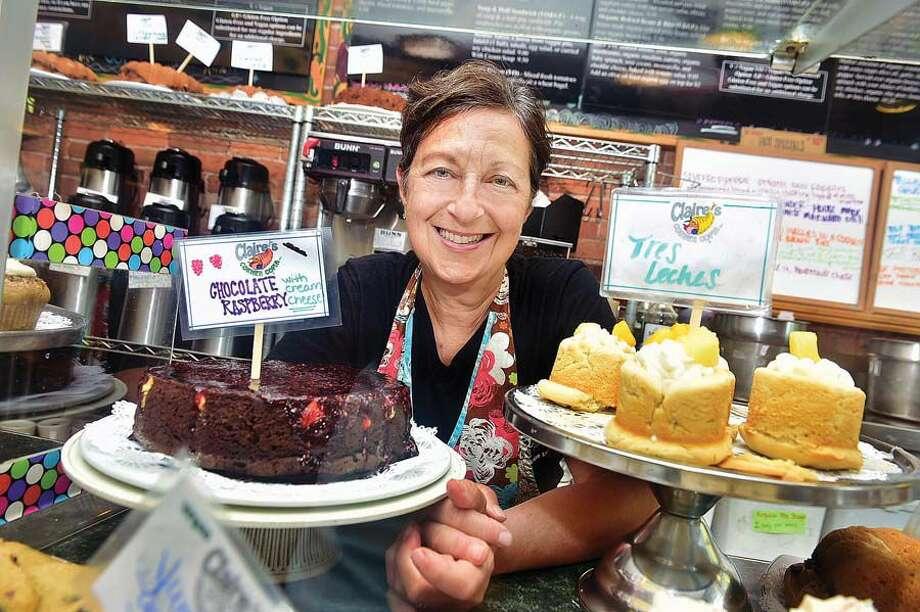 Chef Claire Criscuolo, co-owner of Claire's Corner Copia in New Haven. Photo: Catherine Avalone