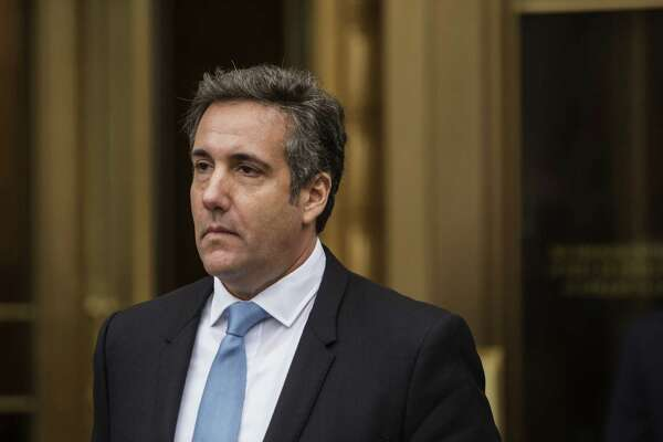 Michael Cohen, personal lawyer to President Donald Trump, exits from Federal Court in New York on April 16, 2018.