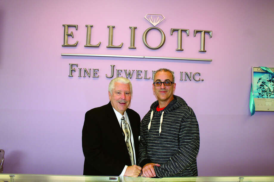 Tom Elliott and son Doug inside Elliott Fine Jewelers at 1405 Troy Road in Edwardsville.