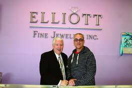 Tom Elliott and son Doug inside Elliott Fine Jewelers at 1405 Troy Road in Edwardsville.