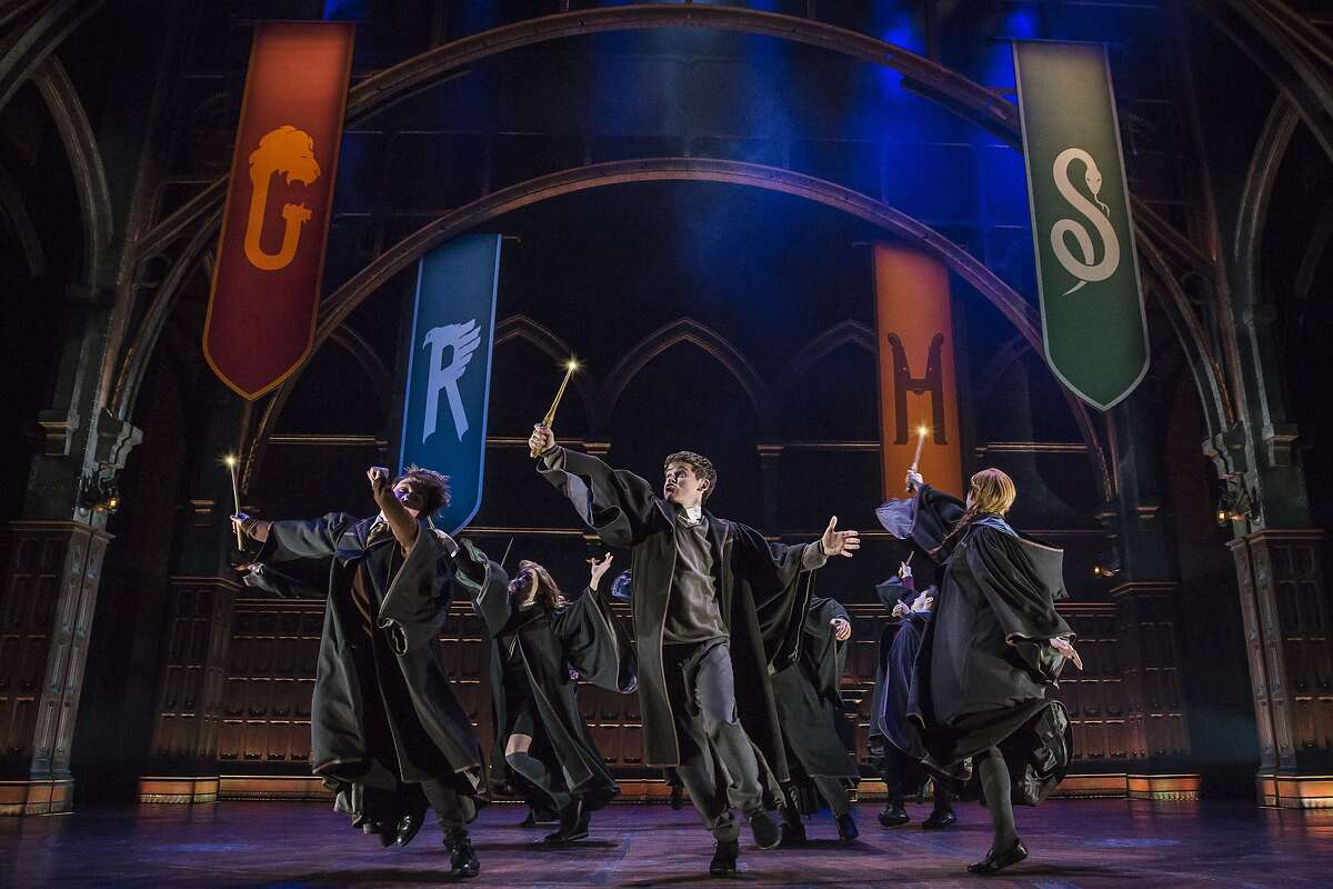 """This image released by Boneau/Bryan-Brown shows a scene from the production of""""Harry Potter and the Cursed Child,"""" in New York. Harry Potter and the Cursed Child"""" will make its West Coast premiere at the Curran theater in San Francisco in fall 2019, it was announced Thursday."""