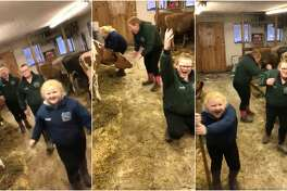 "Three sisters in Northern New York have gone viral after their mom took video of them singing and dancing to Journey's ""Don't Stop Believin'"" while tending to their farm."