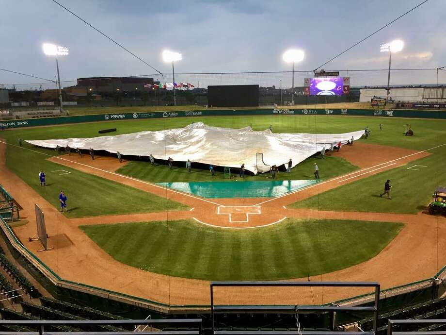The Tecolotes Dos Laredos lost 2-0 Wednesday after inclement weather delayed the start of their game to 9:21 p.m. Wednesday at Uni-Trade Stadium. Photo: Courtesy Of Tecolotes Dos Laredos