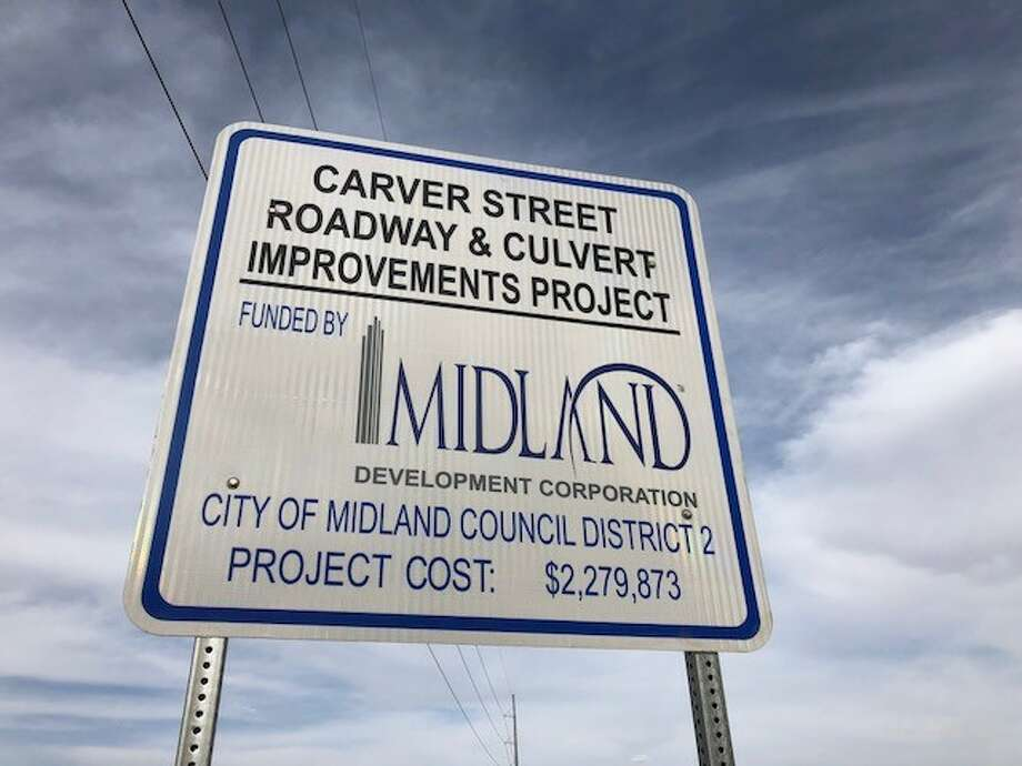 When it rains, Carver Street, a major roadway, is often impassible for drivers and pedestrians alike. Midland Development Corporation and the City of Midland are working together to solve that flooding problem. Photo: Courtesy Photo