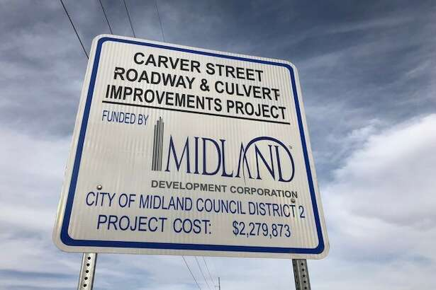 When it rains, Carver Street, a major roadway, is often impassible for drivers and pedestrians alike. Midland Development Corporation and the City of Midland are working together to solve that flooding problem.