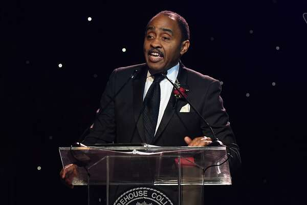 ATLANTA, GA - FEBRUARY 17:  Dr. Emmett D. Carson speaks onstage at Morehouse College 30th Annual A Candle In The Dark Gala at The Hyatt Regency Atlanta on February 17, 2018 in Atlanta, Georgia.  (Photo by Paras Griffin/Getty Images)