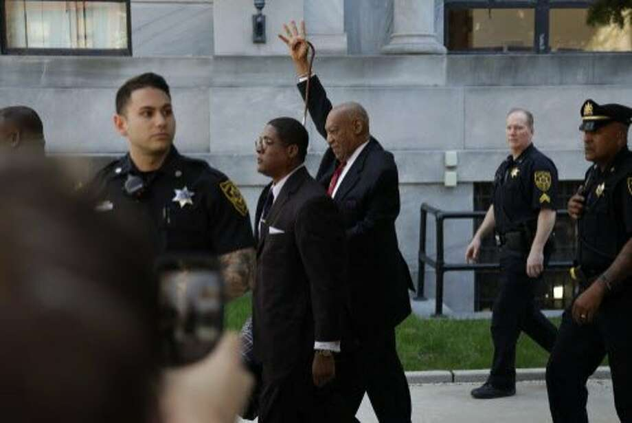 Bill Cosby leaves the courthouse in Norristown, Pa., after Thursday's verdict in the retrial of his sexual assault case. Photo: Dominick Reuter / AFP / Getty Images
