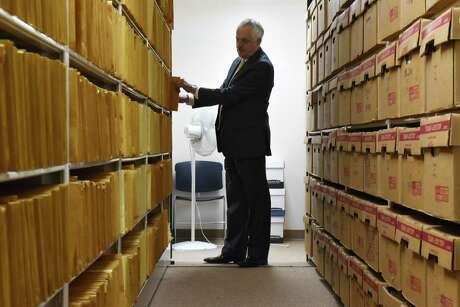 Rensselaer County Clerk Frank Merola said divorce records are long-forgotten archives that have blossomed over the years. (Will Waldron / Times Union) Photo: Will Waldron / 20043221A