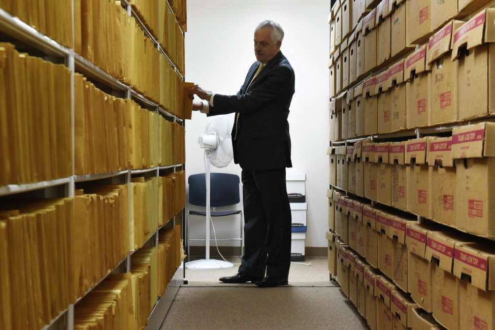 Rensselaer County Clerk Frank Merola said divorce records are long-forgotten archives that have blossomed over the years. (Will Waldron / Times Union)