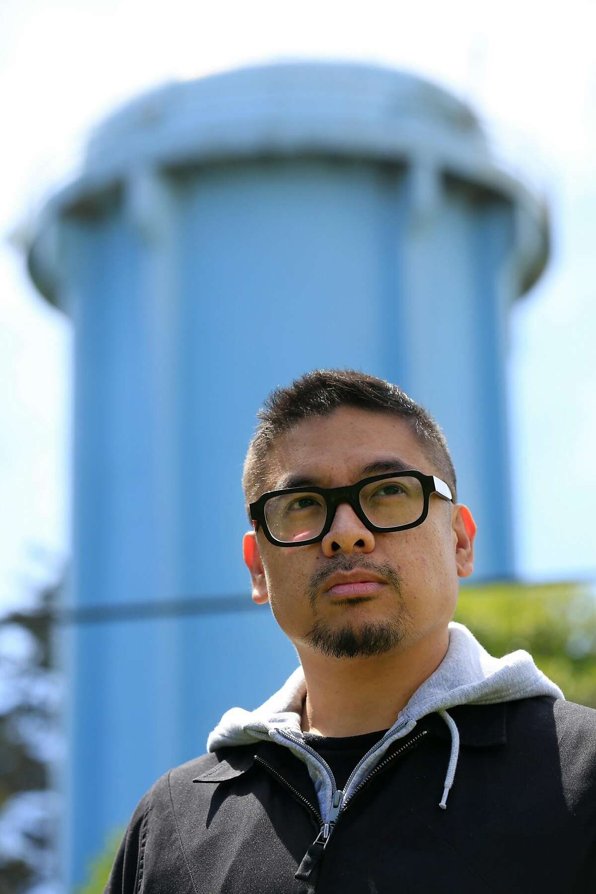Filmmaker H.P. Mendoza stands for a portrait in the Excelsior District on Tuesday, April 24, 2018 in San Francisco, Calif.