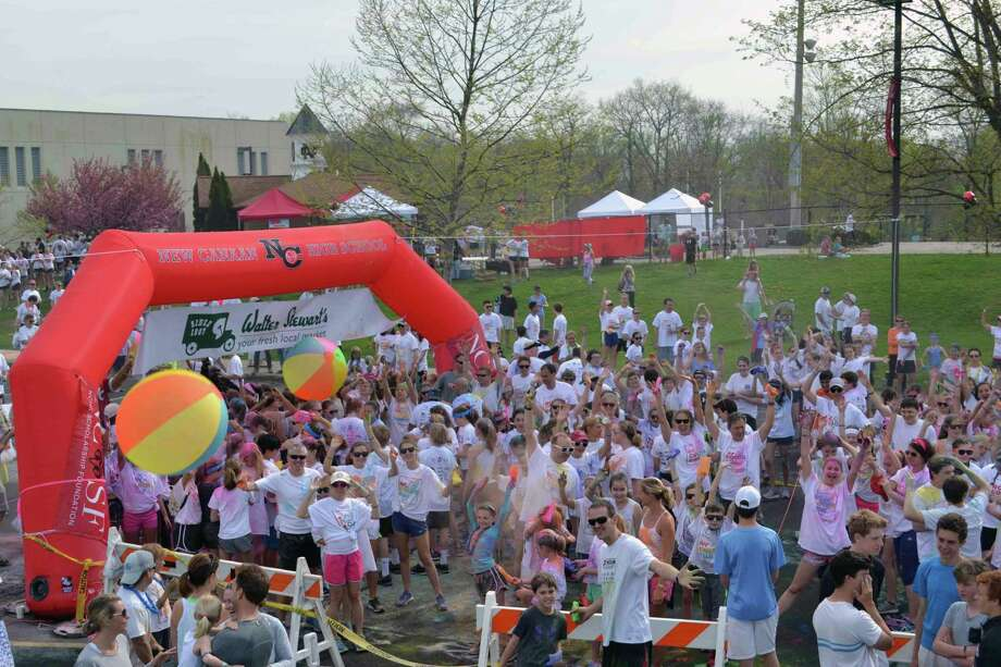 The 2017 New Canaan High School Scholarship Foundation Color Run, in New Canaan, Conn. Photo: Contributed / Hearst Connecticut Media / New Canaan News