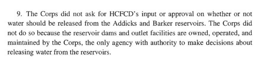 The Harris County Flood Control District was not consulted by the U.S. Army Corps of Engineers during Addicks and Barker dam releases made during Hurricane Harvey. Photo: Harris County District Clerk