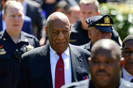 Bill Cosby leaves his sexual assault trial at the Montgomery County Courthouse, Thursday, April 26, 2018, in Norristown, Pa. Cosby was found guilty.