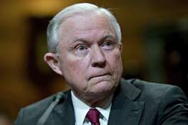 """Attorney General Jeff Sessions, seen Wednesday during a Senate Appropriations Subcommittee hearing in Washington, D.C., suggested during testimony Thursday that the special counsel's probe """"needs to conclude."""""""