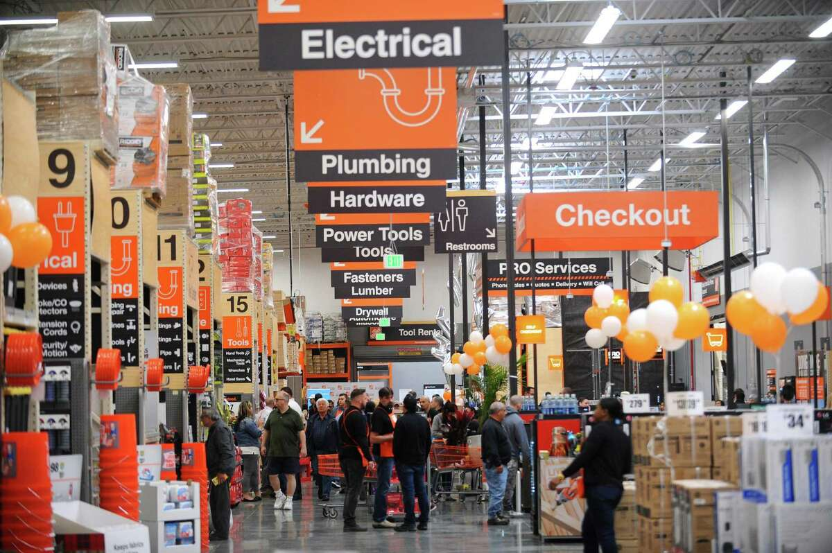 Customers filled the new Home Depot store at 1925 W. Main St., on the west side of Stamford, Conn., on its opening day on Thursday, April 26, 2018.