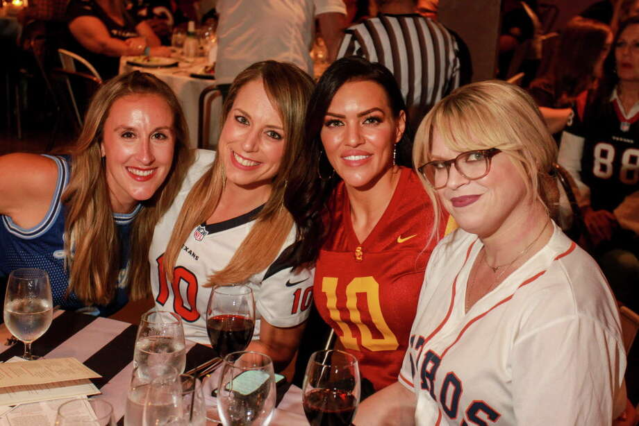 """Channing Grigsby, from left, Kasey Long, Megan Cushing and Shaina Park at the Project 88 """"Game Day"""" Gala. Photo: Gary Fountain, For The Chronicle / Copyright 2018 Gary Fountain"""