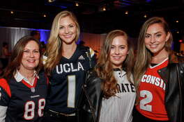 """Cindy Petratis, from left, Amy Cole, Claire Petratis and Natalie Reed at the Project 88 """"Game Day"""" Gala."""