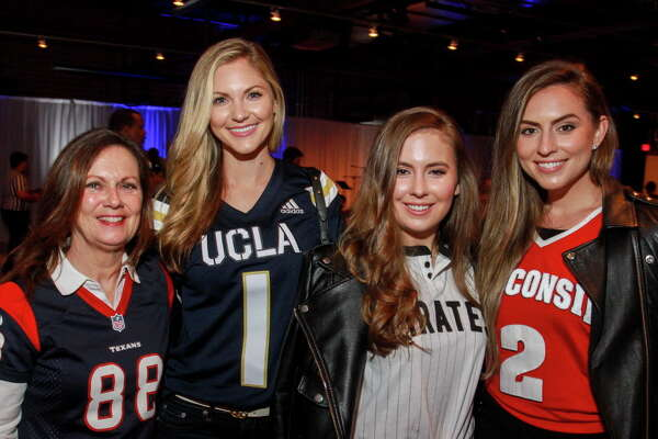 "Cindy Petratis, from left, Amy Cole, Claire Petratis and Natalie Reed at the Project 88 ""Game Day"" Gala."