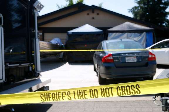 Crime scene tape remains in place in front of the home of Joseph DeAngelo as investigators continue to collect evidence in Citrus Heights, Calif. on Thursday, April 26, 2018. Authorities arrested DeAngelo Wednesday as the suspect who is believed to be the East Side Rapist and Golden State Killer who committed multiple crimes.