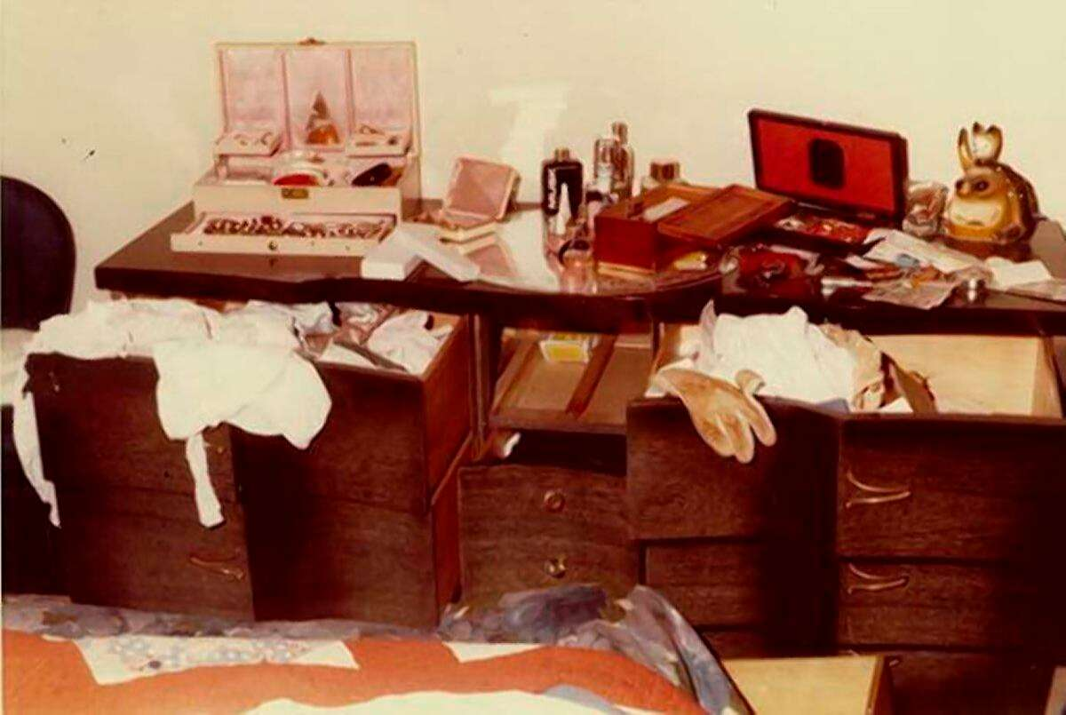 """This undated photo released by the FBI shows a home invasion ransacking by an attacker who became known as the """"East Area Rapist"""" at an unknown location in California. Authorities said the attacker ransacked the home and took coins, jewelry and identification. Joseph James DeAngelo, once sworn to protect the public from crime, was accused Wednesday, April 25, 2018, of living a double life terrorizing suburban neighborhoods at night, becoming one of California's most feared serial killers and rapists in the 1970s and '80s before leaving a cold trail that baffled investigators for more than three decades. (FBI via AP)"""