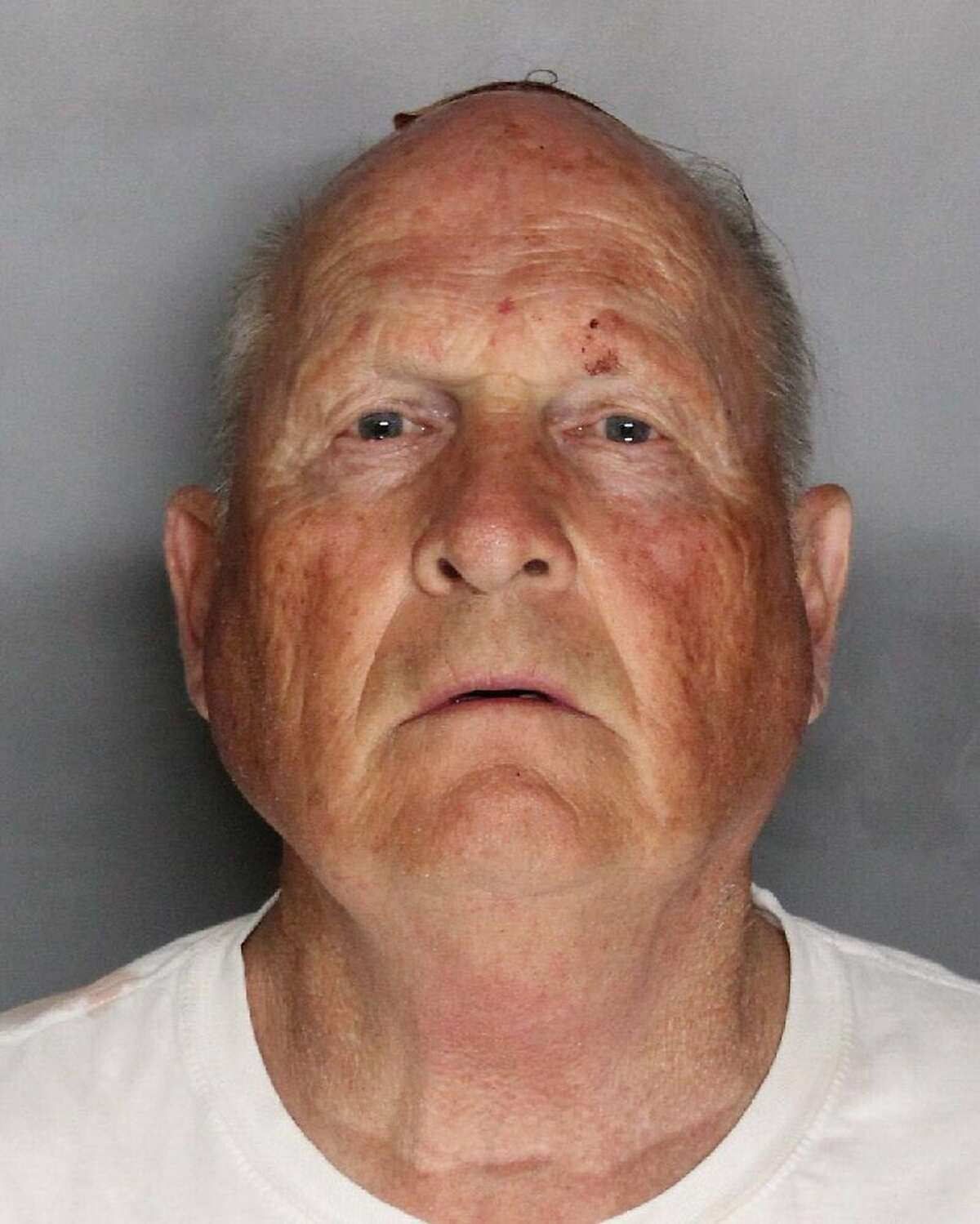 This undated law enforcement photo provided by the Sacramento County, Calif., Sheriff's Office shows Joseph James DeAngelo. DeAngelo, a suspected California serial killer who committed at least 12 homicides and 45 rapes throughout the state in the 1970s and '80s was identified Wednesday, April 25, 2018, as a former police officer, an official said. (Sacramento County Sheriff's Office via AP)