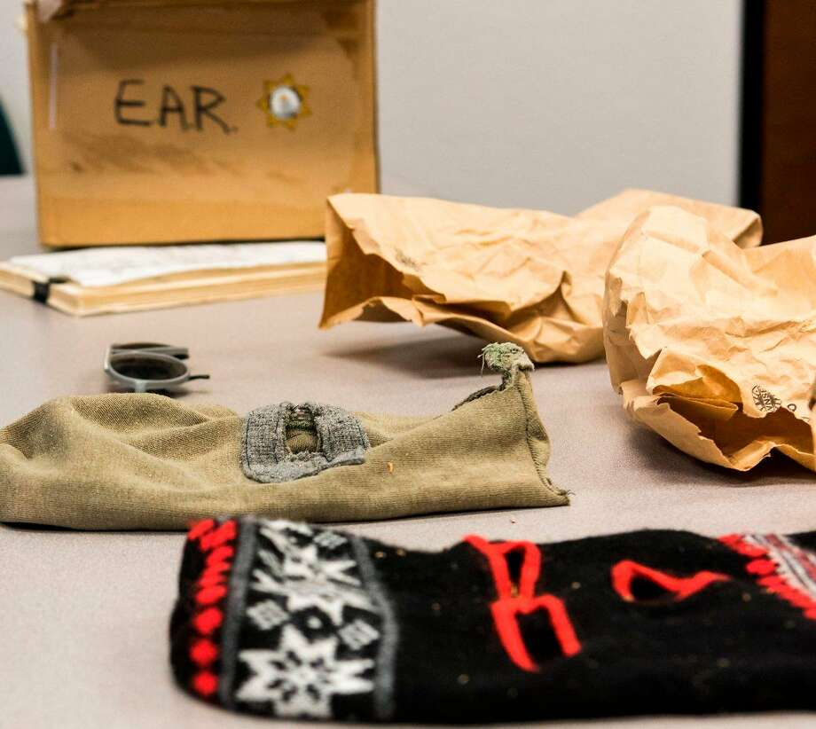 Ski masks believed used by the East Area Rapist are part of the FBI's evidence. Photo: FBI