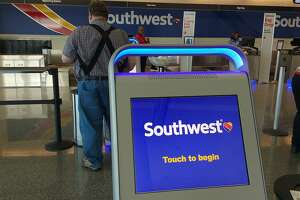 A Southwest Airlines kiosk at Chicago Midway International Airport