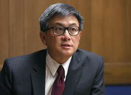 John Chiang, candidate for Governor of California, speaks at the Chronicle on Friday, April 13 2018, in San Francisco, Calif.