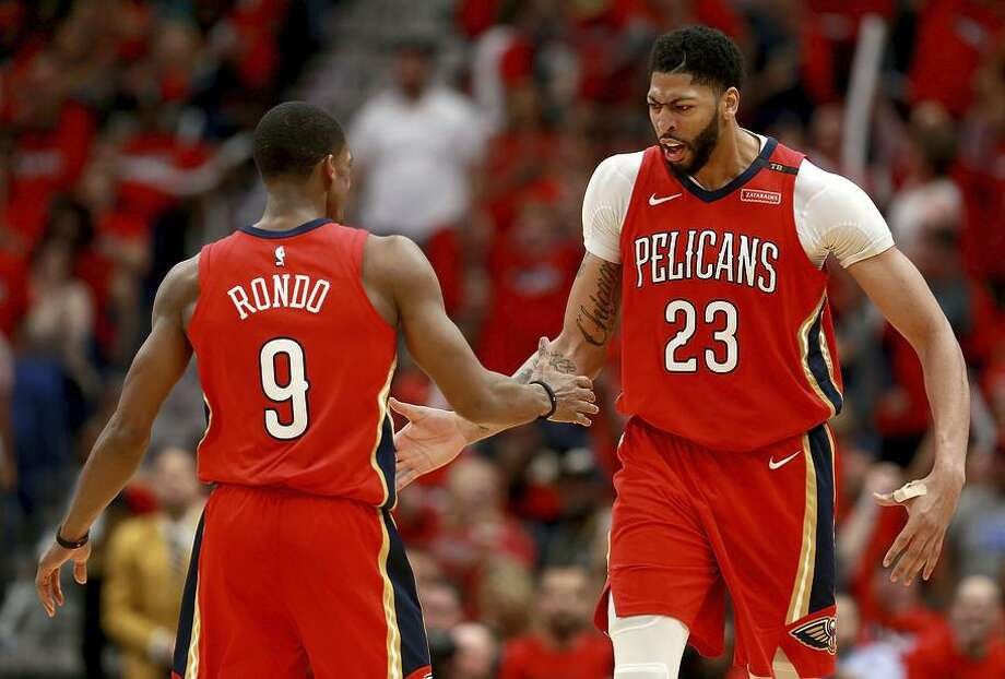 Rajon Rondo (left) is a leader again (like in Boston, unlike in Dallas) and Anthony Davis is no longer a power forward. Photo: Sean Gardner / Getty Images / 2018 Sean Gardner